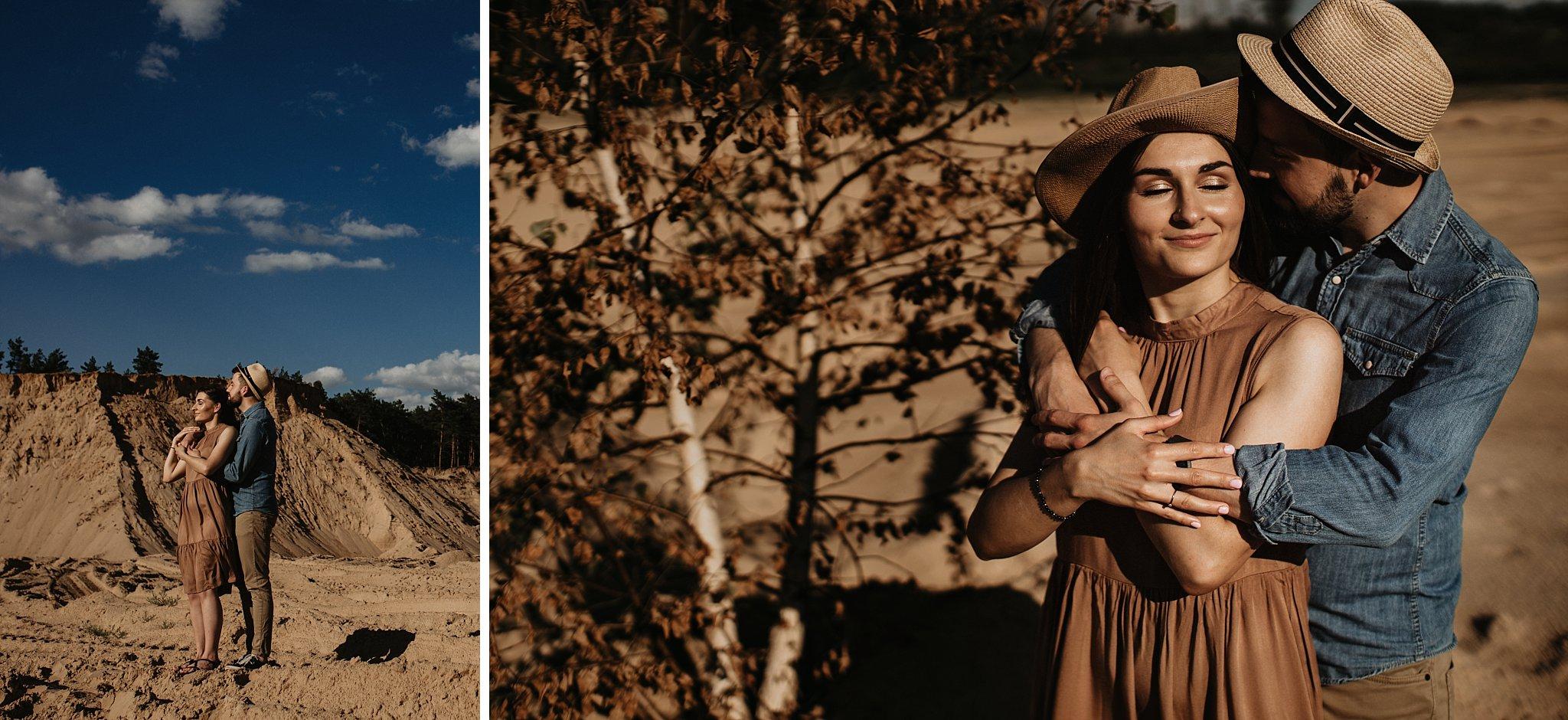 piekna sesja narzeczenska rustykalna romantyczna sesja na pustyni sesja zdjeciowa poznan krugphotography fotograf slubny z poznania fotografia slubna poznan 200