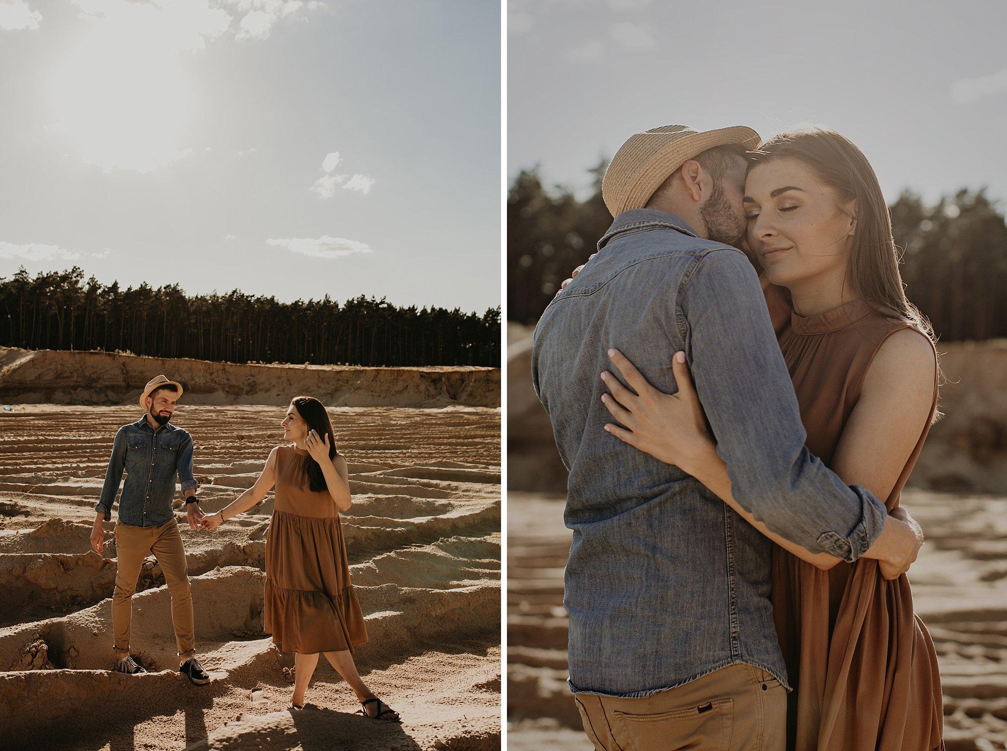 piekna sesja narzeczenska rustykalna romantyczna sesja na pustyni sesja zdjeciowa poznan krugphotography fotograf slubny z poznania fotografia slubna poznan 8300